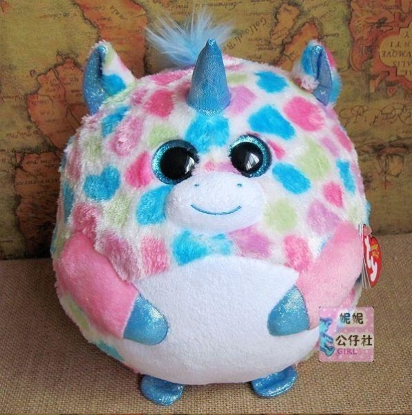 Beanie Ballz Ty Big Eyes Plush Toys Unicorn Ball 11cm The Beanie
