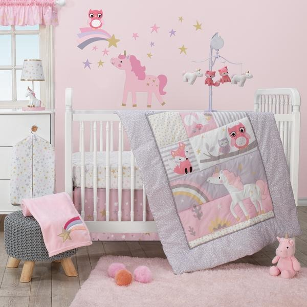 Bedtime Originals Rainbow Unicorn Bedding Crib Set 3