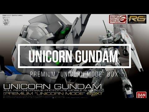 Box Art Rg 1 144 Unicorn Gundam [premium  Unicorn Mode  Box]