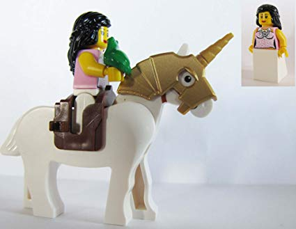 Buy Lego Princess Minifigure On Unicorn Horse With Her Green Frog