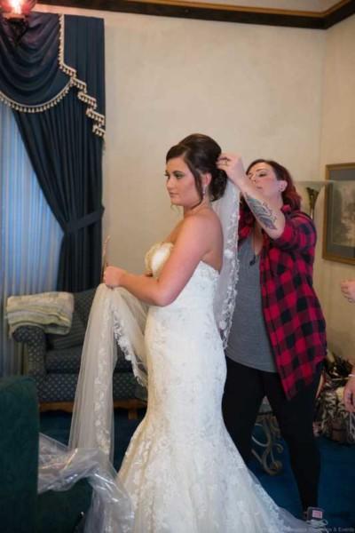Castle Unicorn Wedding Getting Ready Photos
