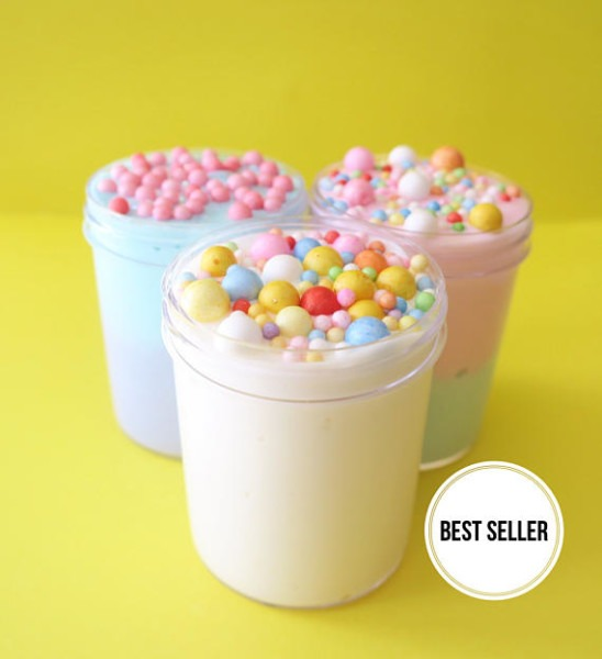 Cereal Bowl Trio, Slime, Unicorn Cereal Slime, Fruit Loops Cereal