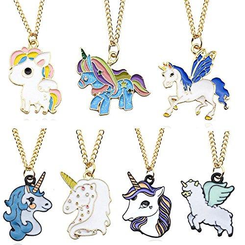 Cheap Sakolla Set Of 7 Rainbow Unicorn Necklace Unicorn Party