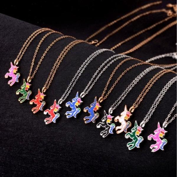 Cheap Unicorn Pendant Pegasus Necklace Necklace Cute Colorful