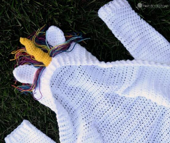 Child Size Unicorn Hoodie Crochet Pattern (sizes 6