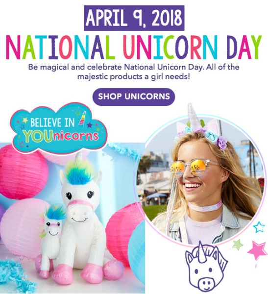 Claire's  National Unicorn Day Essentials