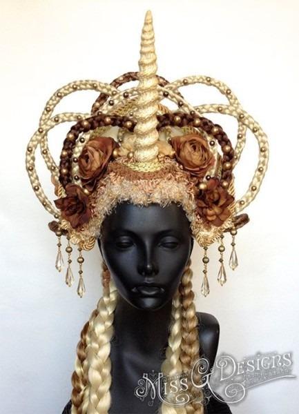 Clearance Sale Unicorn Headdress With Flowers & Braids
