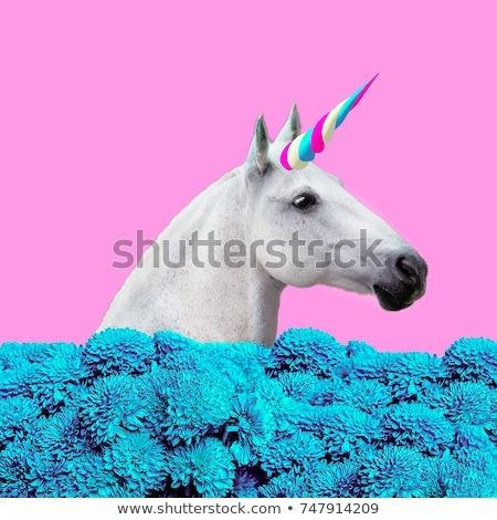 Contemporary Art Collage Concept My Unicorn Stock Photo (edit Now