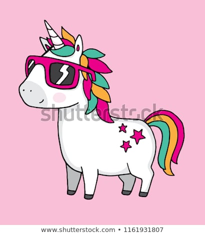 Cool Unicorn Wearing Sunglasses On Pink Stock Vector (royalty Free
