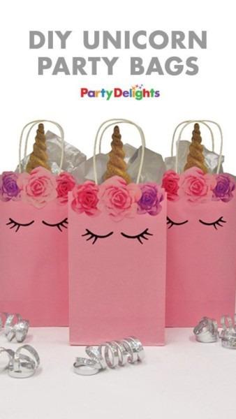 Diy Unicorn Party Bags