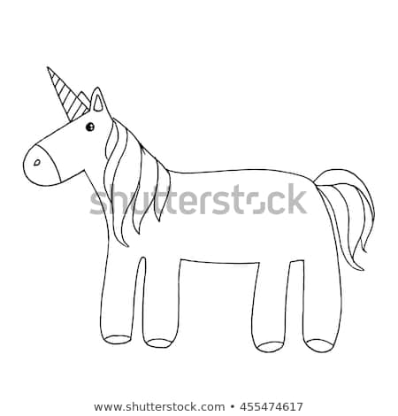 Doodle Magic Unicorn Sketched Unicorn Unicorn Stock Illustration