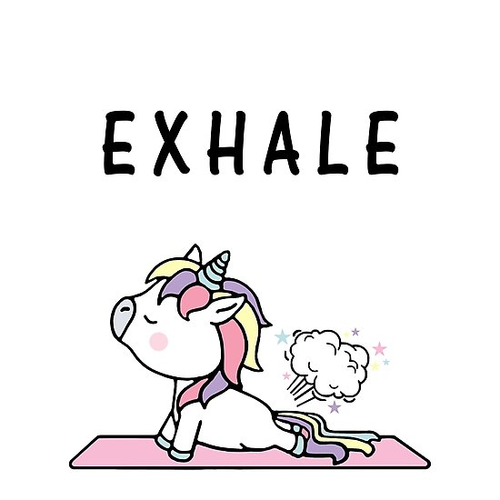Exhale Unicorn Yoga Fart  Photographic Prints By Blonya