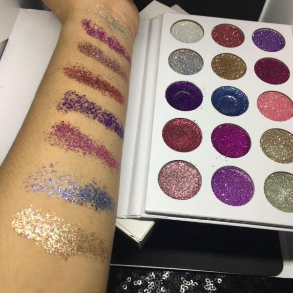 Eyeshadow Glamierre Unicorn Glitter Palette, Health & Beauty