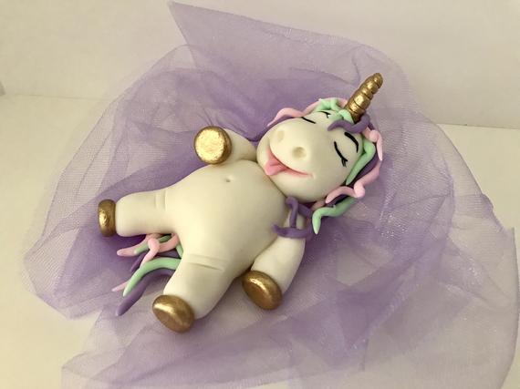 Fat Unicorn Cake Topper Overstuffed Unicorn