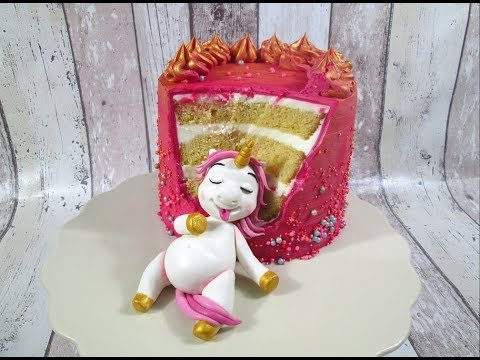 Fat Unicorn Cake Tutorial By Delicious Sparkly Cakes