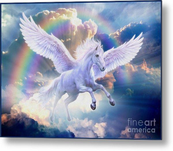 Flying Unicorn Metal Prints And Flying Unicorn Metal Art