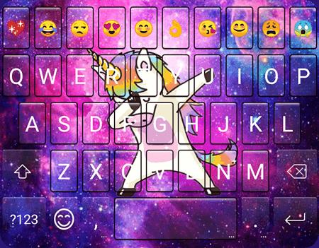 Galaxy Dab Unicorn Emoji Gif Keyboard Wallpaper 1 0 0 Apk