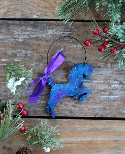 Galaxy Unicorn Ornament