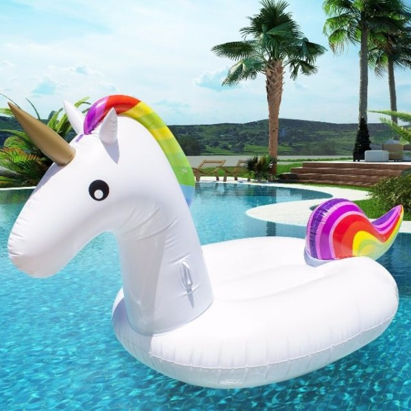 Giant Pink Unicorn Inflatable Pool Float  Pool Raft Lounger Party