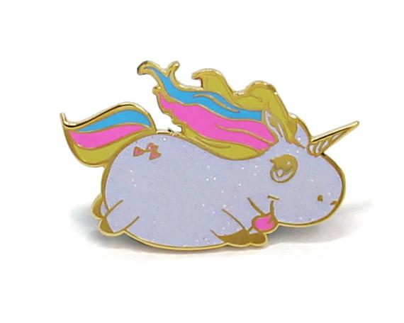 Glitter Unicorn Unicorn Enamel Pin Glitter Enamel Pin Lapel