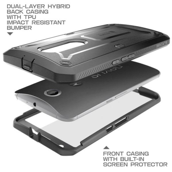 Google Nexus 6 Unicorn Beetle Pro Full Body Rugged Holster Case