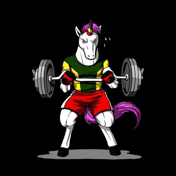 Gym Unicorn Weightlifting Shirt