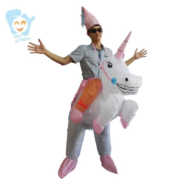 Halloween Costumes For Women Men Adults Inflatable Unicorn Costume