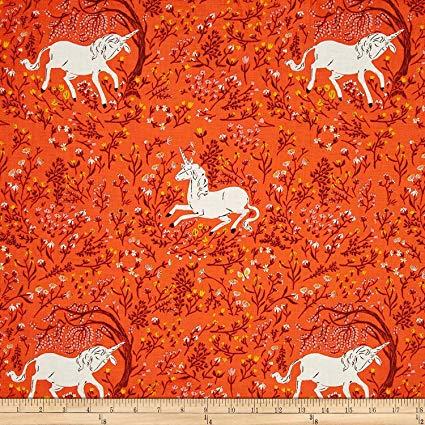 Heather Ross Far Far Away Unicorn Orange Fabric  Amazon Ca  Home