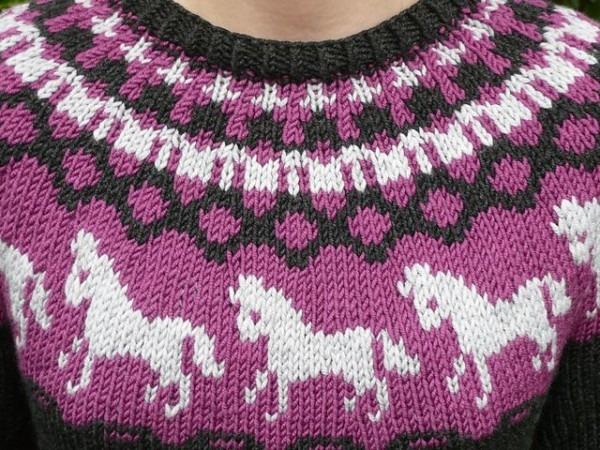 Horse Unicorn Knit Sweater