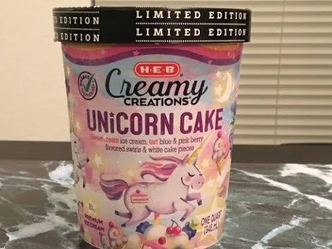 Ice Cream Review  Heb's Unicorn Cake