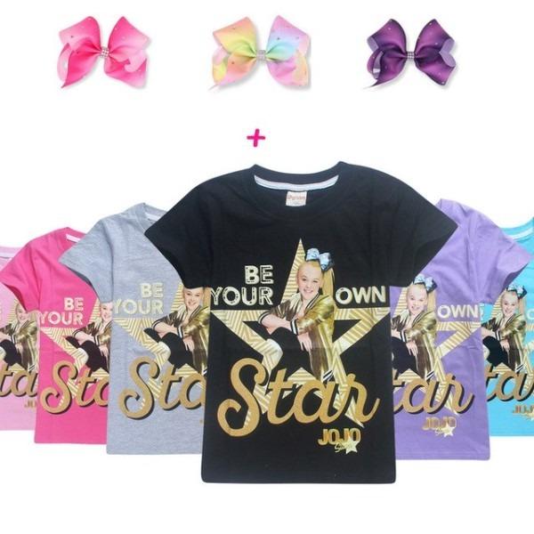 Jojo Siwa Unicorn Various Star Short Sleeve T Shirt For Children