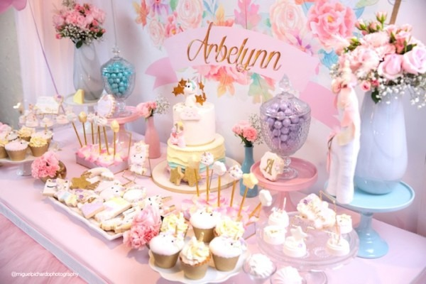 Kara's Party Ideas Baby Unicorn 1st Birthday Party