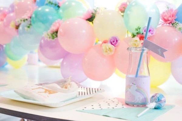 Kara's Party Ideas Floral Rainbow Glam Unicorn Birthday Party