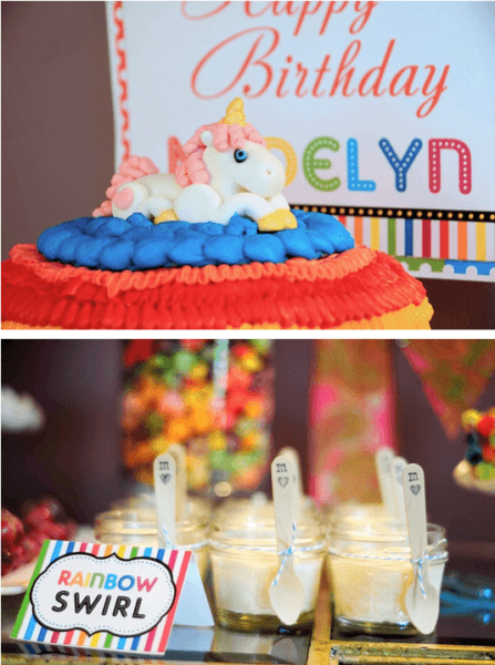 Kara's Party Ideas Rainbow Unicorn 7th Birthday Party