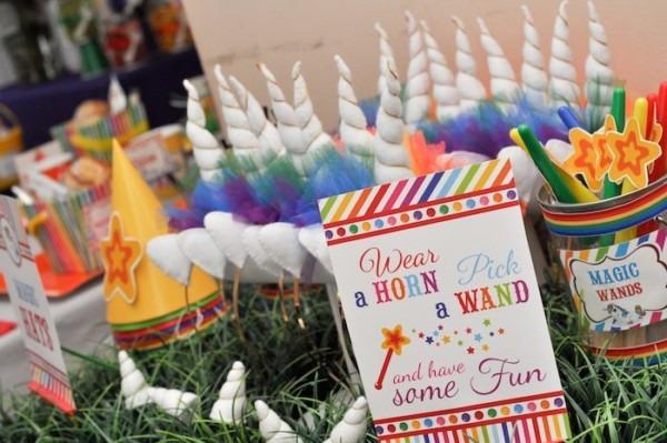 Kara's Party Ideas Rainbow Unicorn Art Party {ideas, Decor