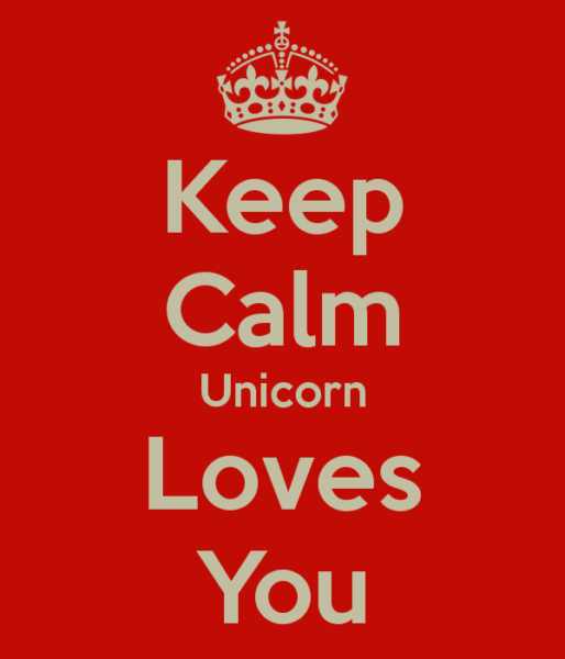 Keep Calm Unicorn Loves You Poster