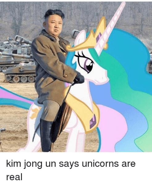 Kim Jong Un Says Unicorns Are Real