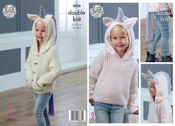 King Cole Comfort Dk Unicorn Sweater And Cardigan Knitting