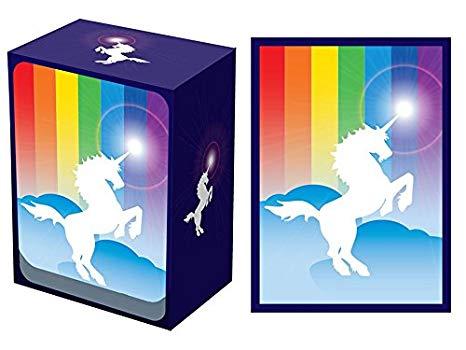 Legion Unicorn Deck Box + 100 Matching Sleeves (fits Magic Mtg