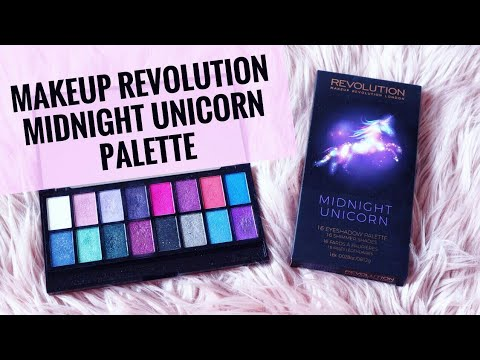 Makeup Revolution  Midnight Unicorn Palette (review + Swatches