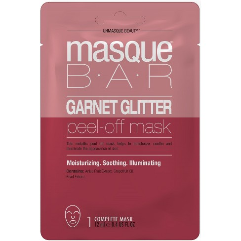 Masque Bar Garnet Glitter Peel Off Mask Facial Treatments