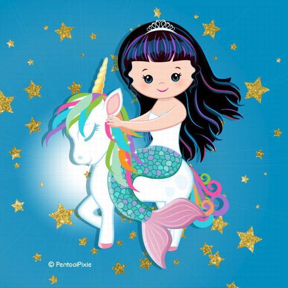 Mermaid And Unicorn Clipart Mermaid Unicorn Unicorn Mermaid