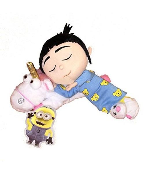 Minion Mayhem Despicable Me Sleeping Agnes With Unicorn Plush