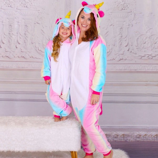 Mommy & Me Dream Unicorn Pajamas For Mother And Daughter