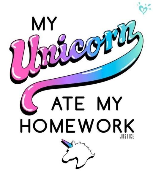 My 🦄 Ate My Homework 💖