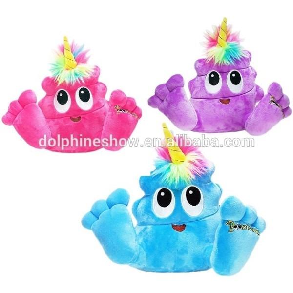 New Design Stuffed Poop Plush Emoji Toy With Horn Unicorn Plush