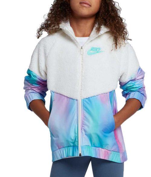 Nike Girls' Sportswear Sherpa Unicorn Windrunner Jacket
