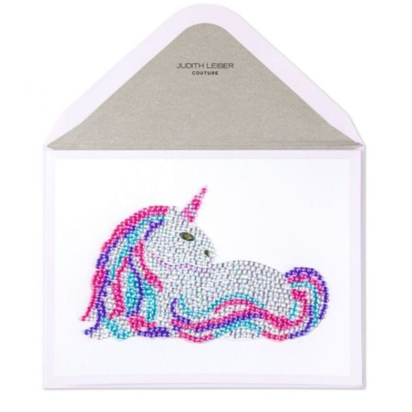 Papyrus Blank Greeting Card  Amazing  Gemmed Unicorn Card Retail