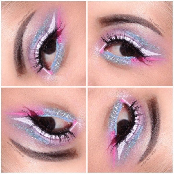 Pastel Party Eye Makeup    Barbie & The Unicorn Inspired