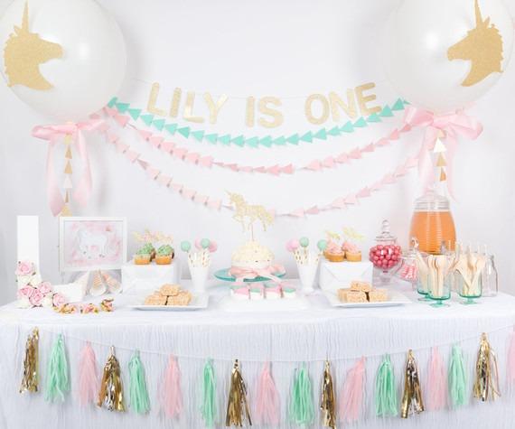 Pastel Unicorn First Birthday
